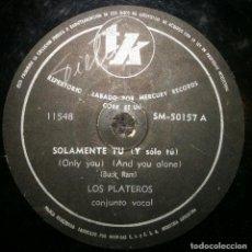 Discos de pizarra: DISCOS 78 RPM - THE PLATTERS - ONLY YOU - EL GRAN SIMULADOR - BUCK RAM - PIZARRA. Lote 126388071