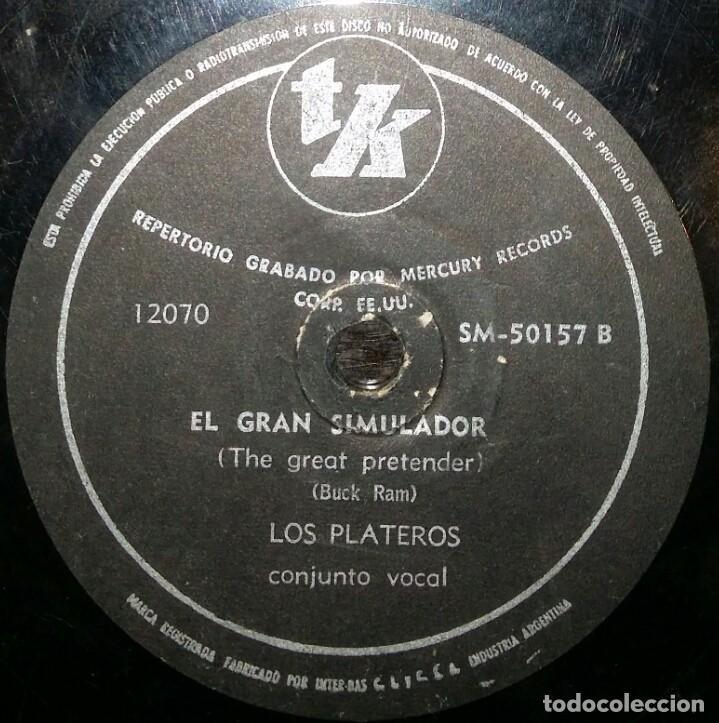 Discos de pizarra: DISCOS 78 RPM - THE PLATTERS - ONLY YOU - EL GRAN SIMULADOR - BUCK RAM - PIZARRA - Foto 2 - 126388071