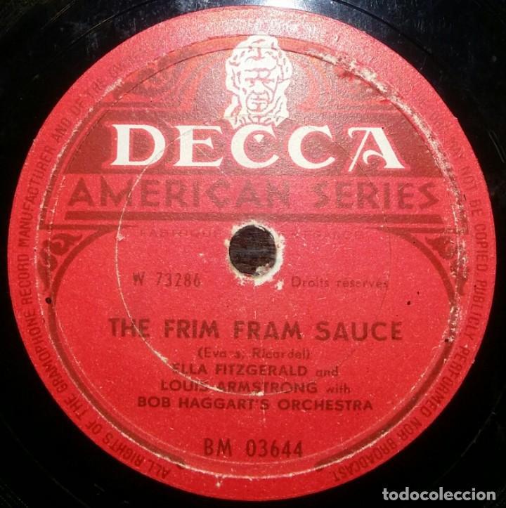 Discos de pizarra: DISCOS 78 RPM - ELLA FITZGERALD - LOUIS ARMSTRONG - ORQUESTA - BOB HAGGART´S - PIZARRA - Foto 2 - 126388727