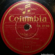 Discos de pizarra: DISCOS 78 RPM - FRANK SINATRA - CRADLE SONG - THERE´S NO YOU - PIZARRA. Lote 126389191