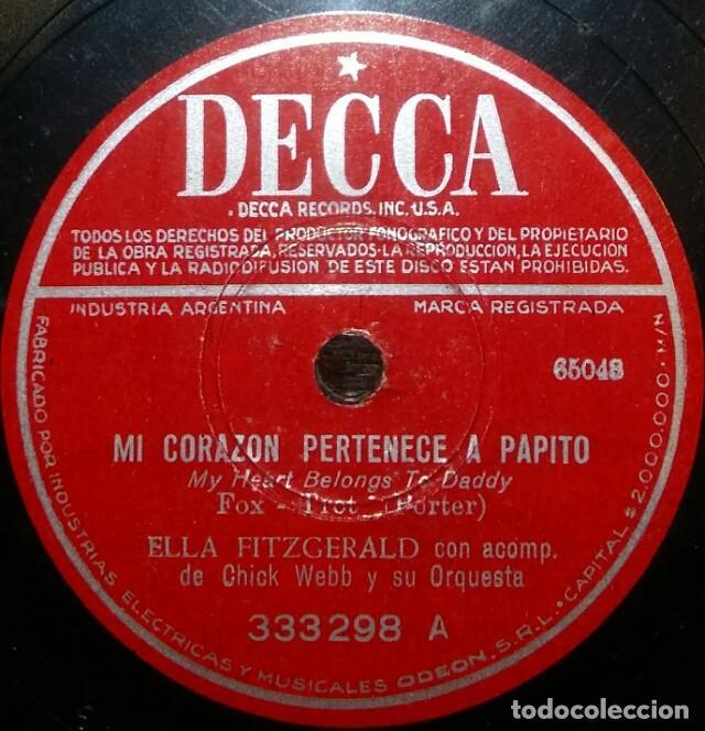 Discos de pizarra: DISCOS 78 RPM - ELLA FITZGERALD - CHICK WEBB - ORQUESTA - A TISKET, A TASKET - PIZARRA - Foto 2 - 126389747
