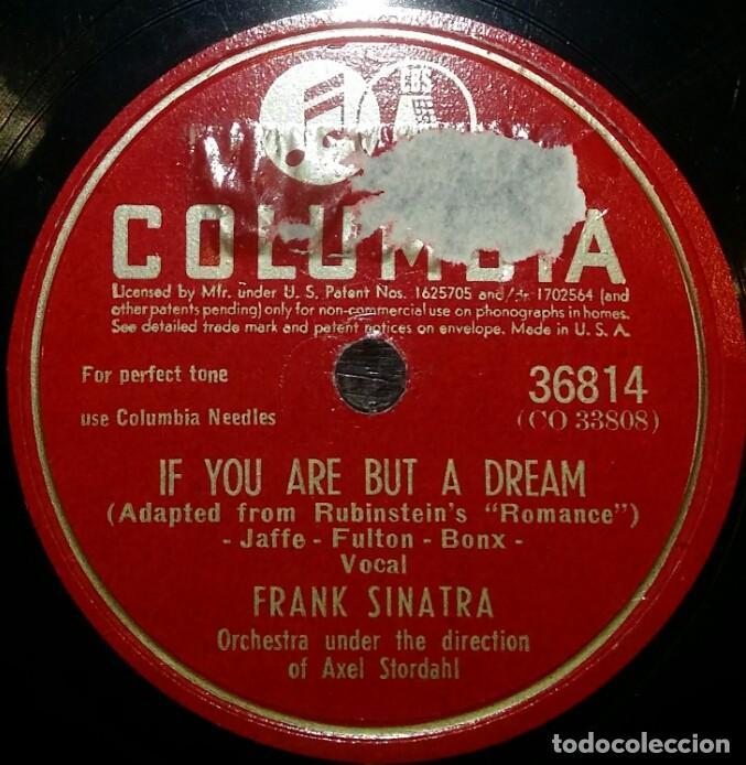 Discos de pizarra: DISCOS 78 RPM - FRANK SINATRA - PUT YOUR DREAMS AWAY - IF YOU ARE BUT A DREAM - PIZARRA - Foto 2 - 126391699