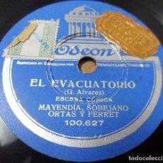 Discos de pizarra: DISCO DE PIZARRA. MONÓLOGO /ESCENA CÓMICA. ORTAS, MAYENDÍA. Lote 126505067