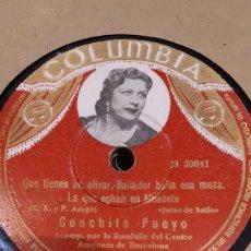 Discos de pizarra: DISCO DE PIZARRA CONCHITA PUEYO. Lote 126753838