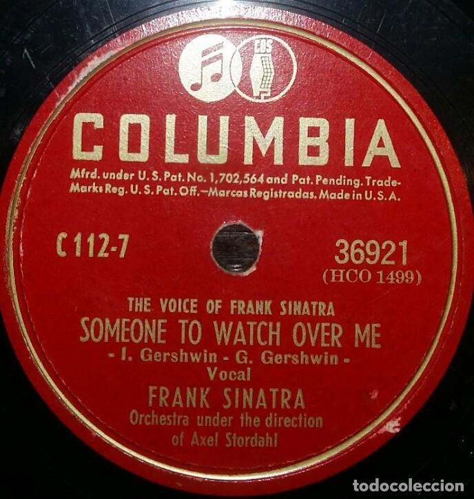 DISCOS 78 RPM - FRANK SINATRA - SOMEONE TO WATCH OVER ME - PARADISE - ORQUESTA - PIZARRA (Música - Discos - Pizarra - Solistas Melódicos y Bailables)