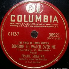 Discos de pizarra: DISCOS 78 RPM - FRANK SINATRA - SOMEONE TO WATCH OVER ME - PARADISE - ORQUESTA - PIZARRA. Lote 126838811