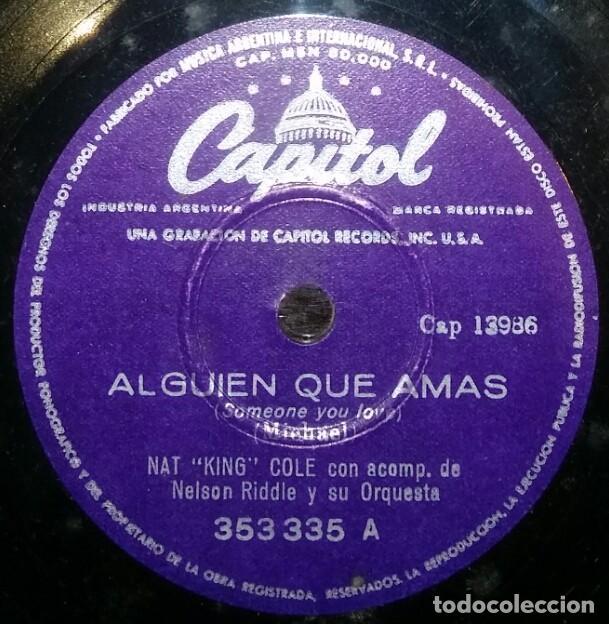 Discos de pizarra: DISCOS 78 RPM - NAT KING COLE - JAZZ - NELSON RIDDLE - ORQUESTA - PERDONA A MI CORAZÓN - PIZARRA - Foto 2 - 126840515