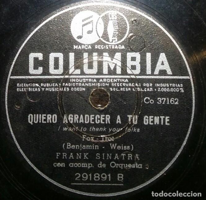 DISCOS 78 RPM - QUIERO AGRADECER A TU GENTE - QUE HARÉ - ORQUESTA - IRVING BERLIN - PIZARRA (Música - Discos - Pizarra - Solistas Melódicos y Bailables)