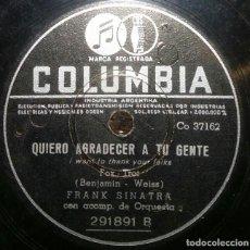 Discos de pizarra: DISCOS 78 RPM - QUIERO AGRADECER A TU GENTE - QUE HARÉ - ORQUESTA - IRVING BERLIN - PIZARRA. Lote 126841063