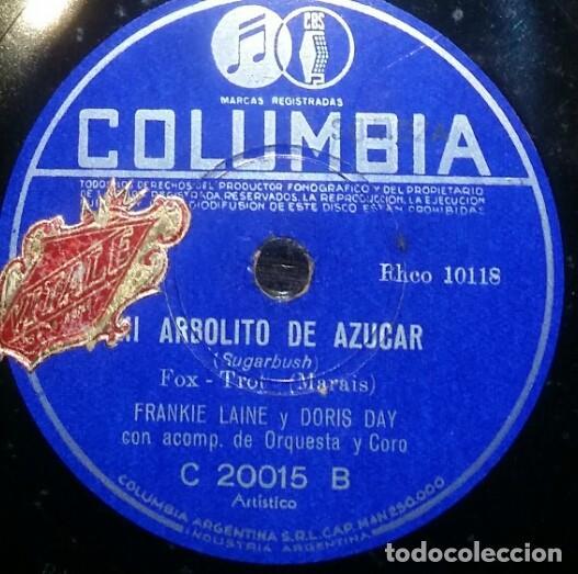 Discos de pizarra: DISCOS 78 RPM - DORIS DAY - ALBUM - 3 DISCOS - ORQUESTA - FRANKIE LAINE - JAZZ - PIZARRA - Foto 3 - 126842479