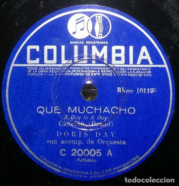 Discos de pizarra: DISCOS 78 RPM - DORIS DAY - ALBUM - 3 DISCOS - ORQUESTA - FRANKIE LAINE - JAZZ - PIZARRA - Foto 6 - 126842479