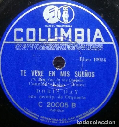 Discos de pizarra: DISCOS 78 RPM - DORIS DAY - ALBUM - 3 DISCOS - ORQUESTA - FRANKIE LAINE - JAZZ - PIZARRA - Foto 7 - 126842479