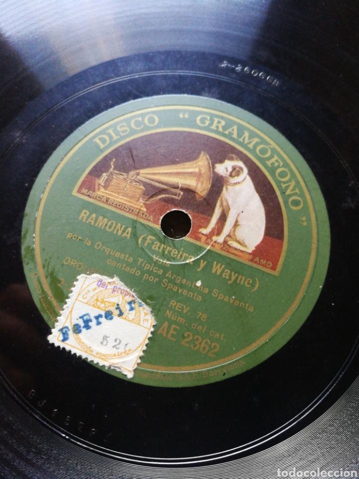 Discos de pizarra: DISCO LA VOZ DE SU AMO- RAMONA (VALS)/ BANDONEON ARRABALERO (TANGO)- ORQUESTA TIPICA ARGENTINA. - Foto 2 - 127087332