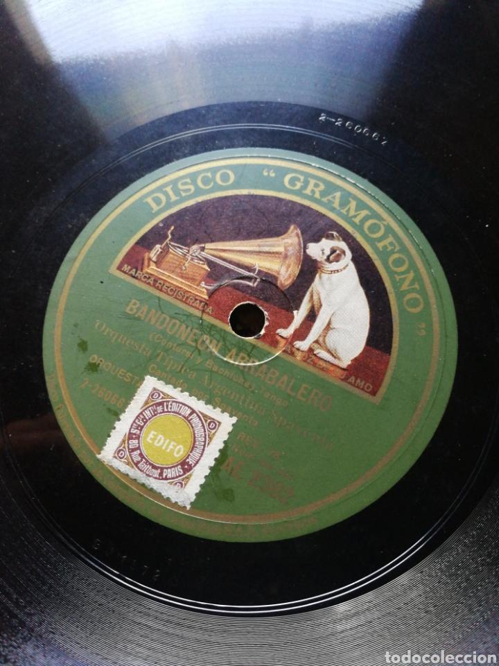 Discos de pizarra: DISCO LA VOZ DE SU AMO- RAMONA (VALS)/ BANDONEON ARRABALERO (TANGO)- ORQUESTA TIPICA ARGENTINA. - Foto 3 - 127087332