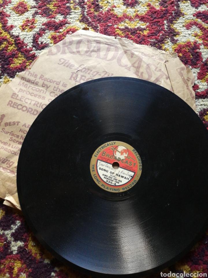 DISCO GRAMÓFONO BROADCAST- KIMO KOA & HIS HAWAIIAN TRIO- A HULA DREAM/ SONG OF HAWAII.FORMATO SINGLE (Música - Discos - Pizarra - Otros estilos)