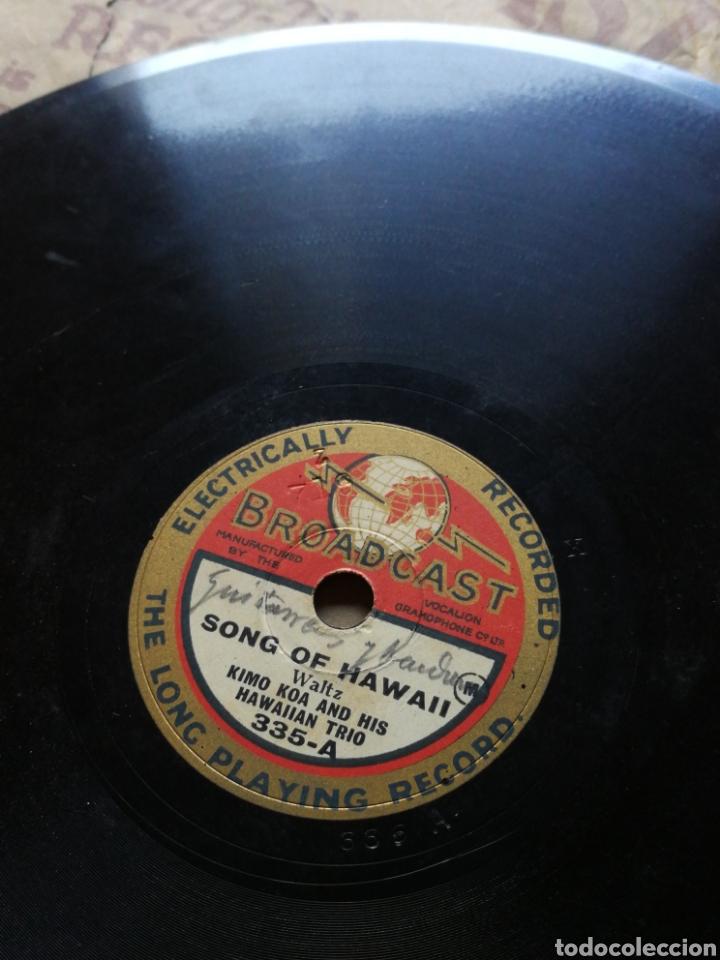 Discos de pizarra: DISCO GRAMÓFONO BROADCAST- KIMO KOA & HIS HAWAIIAN TRIO- A HULA DREAM/ SONG OF HAWAII.FORMATO SINGLE - Foto 2 - 127103106