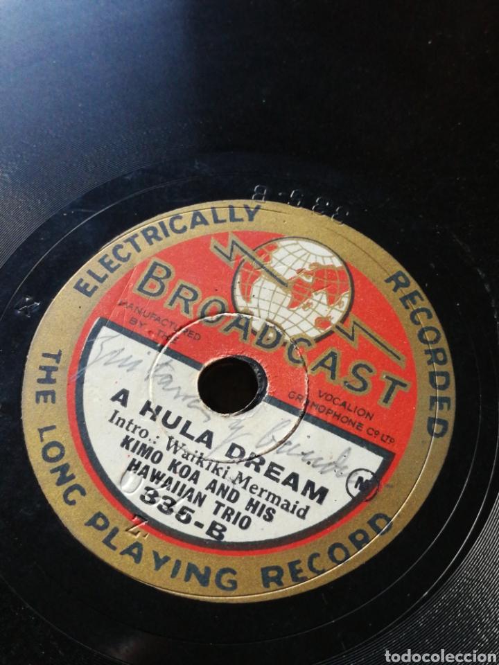 Discos de pizarra: DISCO GRAMÓFONO BROADCAST- KIMO KOA & HIS HAWAIIAN TRIO- A HULA DREAM/ SONG OF HAWAII.FORMATO SINGLE - Foto 3 - 127103106