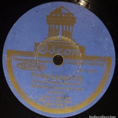 Discos de pizarra: DISCOS 78 RPM - GUERRITA - MANOLO DE BADAJOZ - GUITARRA - FANDANGOS - MILONGA - PIZARRA. Lote 128100023
