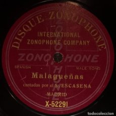 Discos de pizarra: DISCOS 78 RPM - ESCACENA - GUITARRA - MALAGUEÑAS - PIZARRA. Lote 128100323