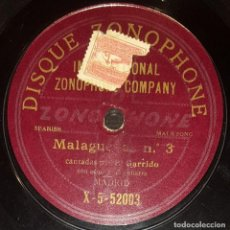 Discos de pizarra: DISCOS 78 RPM - EL GARRIDO - GUITARRA - MALAGUEÑAS - TANGO - PIZARRA. Lote 128100803