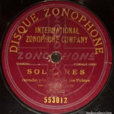Discos de pizarra: DISCOS 78 RPM - NIÑA DE LOS PEINES - GUITARRA - SOLEARES - TARANTAS DE LA GRABIELA - PIZARRA. Lote 128101607
