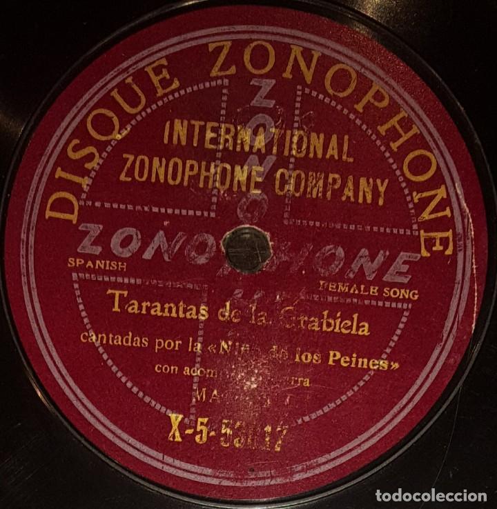 Discos de pizarra: DISCOS 78 RPM - NIÑA DE LOS PEINES - GUITARRA - SOLEARES - TARANTAS DE LA GRABIELA - PIZARRA - Foto 2 - 128101607