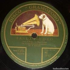 Discos de pizarra: DISCOS 78 RPM - NIÑO DE MARCHENA - RAMÓN MONTOYA - GUITARRA - FANDANGUILLO - PIZARRA. Lote 128102535