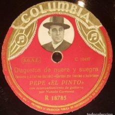Discos de pizarra: DISCOS 78 RPM - PEPE EL PINTO - MANOLO CARMONA - GUITARRA - SEGUIRIYAS -TIENTOS - BULERÍAS - PIZARRA. Lote 128103727