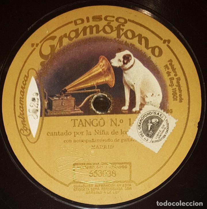 DISCOS 78 RPM - NIÑA DE LOS PEINES - GUITARRA - TANGO - PIZARRA (Música - Discos - Pizarra - Flamenco, Canción española y Cuplé)