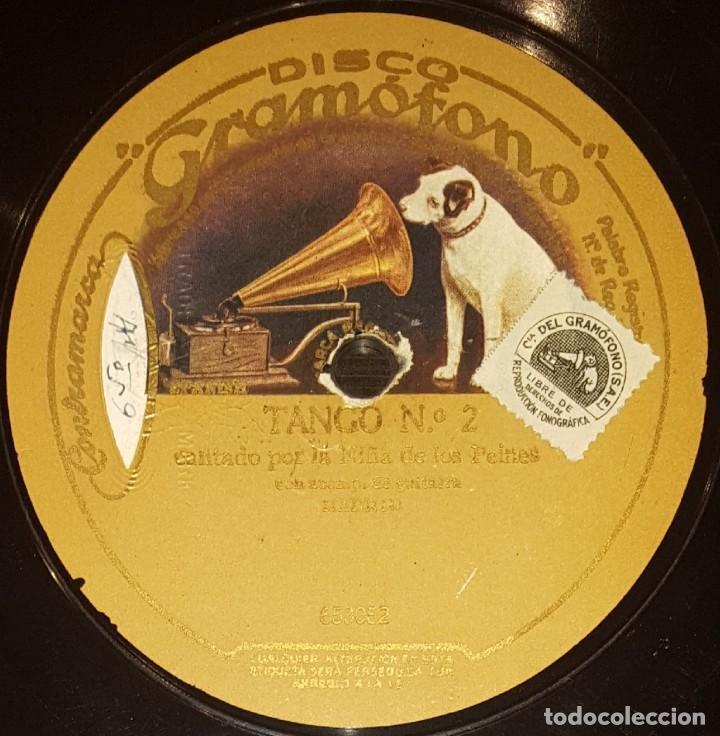 Discos de pizarra: DISCOS 78 RPM - NIÑA DE LOS PEINES - GUITARRA - TANGO - PIZARRA - Foto 2 - 128104427