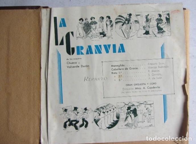 Discos de pizarra: ALBUM. LA GRAN VIA. DIR. A. CAPDEVILA. AMPARO SAUS - MARCOS REDONDO.ODEON. ÁLBUM CON 3 DISCOS. C - Foto 2 - 128376955