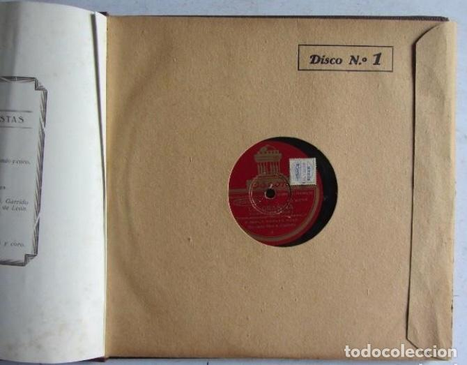 Discos de pizarra: ALBUM. LA GRAN VIA. DIR. A. CAPDEVILA. AMPARO SAUS - MARCOS REDONDO.ODEON. ÁLBUM CON 3 DISCOS. C - Foto 4 - 128376955