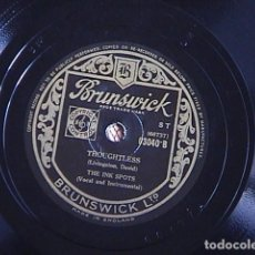 Discos de pizarra: BLESS YOU / THOUGHTLESS. THE INK SPOTS.. Lote 128408507