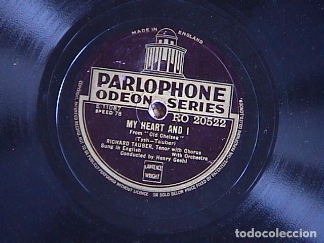 Discos de pizarra: Dearly Beloved / My heart and i. Richard Tauber. - Foto 2 - 128409155