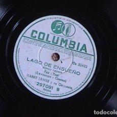 Discos de pizarra: TROMPETAS AZULES / LAGO DE ENSUEÑO. HARRY JAMES Y SU ORQUESTA.. Lote 128411715