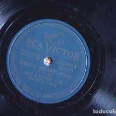 Discos de pizarra: BOLADA DE AFICIONADO. /OLVIDAO. JUAN D´ARIENZO Y SU ORQUESTA TÍPICA.. Lote 128413739