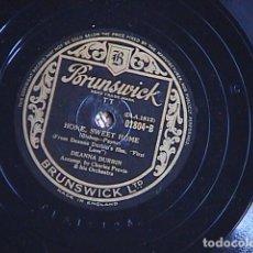 Discos de pizarra: AVE MARIA. / HOME, SWEET HOME. DEANNA DURBIN.. Lote 128414659