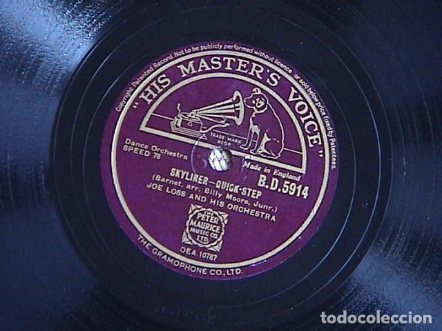Discos de pizarra: gotta be this or that- quick step. /Skyliner-Quick step. Joe Loss and his orchestra. - Foto 2 - 128415059
