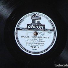 Discos de pizarra: SEGUÍ MI CONSEJO, /DANZA HUNGARA Nº 5. ENRIQUE RODRIGUEZ Y SU ORQUESTA TÍPICA.. Lote 159466602