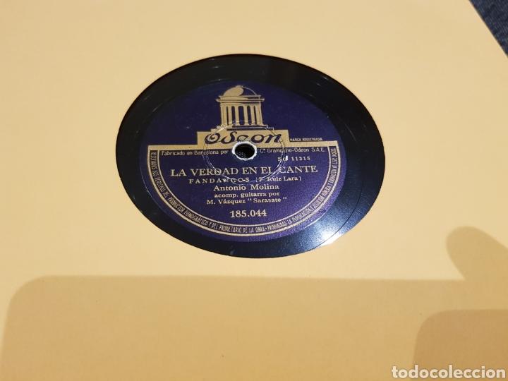 Discos de pizarra: DISCOS 78 RPM ANTONIO MOLINA - Foto 2 - 128567360