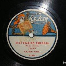 Dischi in gommalacca: CASIMIRO ORTAS - EXAMEN DE CABO / DECLARACION AMOROSA - CASIMIRO ORTAS - MELITON GONZALEZ. Lote 128846283