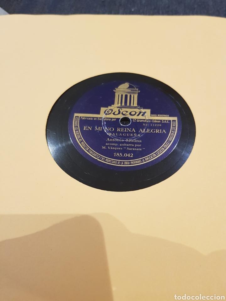 DISCOS 78 RPM ANTONIO MOLINA (Música - Discos - Pizarra - Flamenco, Canción española y Cuplé)