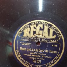 Discos de pizarra: DISCOS 78 RPM GAITA ASTURIAS. Lote 129283826