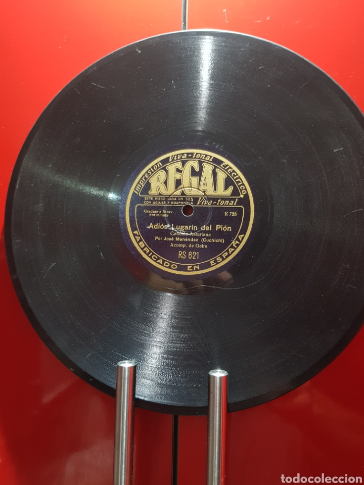 Discos de pizarra: DISCOS 78 RPM GAITA ASTURIAS - Foto 4 - 129283826