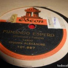 Discos de pizarra: ORQUESTA ALEXANDRE FUMANDO ESPERO/CELITOS 10 PULGADAS 25 CTMS ODEON 101.897 SPAIN. Lote 130265694