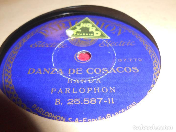 BANDA PARLOPHON DANZA DE COSACOS/VOLGA 10 PULGADAS 25 CTMS PARLOPHON 38.160 SPAIN (Música - Discos - Pizarra - Solistas Melódicos y Bailables)
