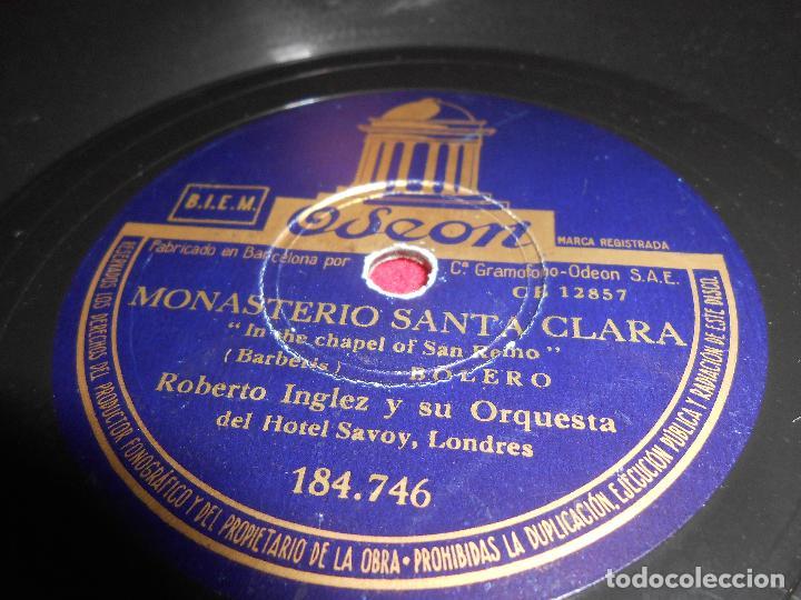 ROBERTO INGLEZ ORQUESTA MONASTERIO SANTA CLARA/EN UN CAFE FRANCES 10 PULGADAS 25 CTMS ODEON 184.746 (Música - Discos - Pizarra - Solistas Melódicos y Bailables)