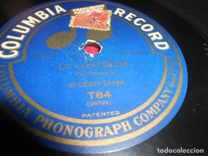 ALFREDO GOBBI&SEÑORA LA FIRMEZA/EUGENIO LOPEZ LA CONFESION 10 PULGADAS 25 CTMS COLUMBIA T84 (Música - Discos - Pizarra - Solistas Melódicos y Bailables)