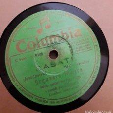 Discos de pizarra: ORQUESTA IBARRA - CASATE / MOITO OBRIGADO - PEPE IBARRA - ORQUESTA IBARRA. Lote 130759892