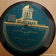 Discos de pizarra: ABERNAL Y SU ORQUESTA - TANGO A TRIANA / LISBOA ANTIGUA - ABERNAL. Lote 130762236